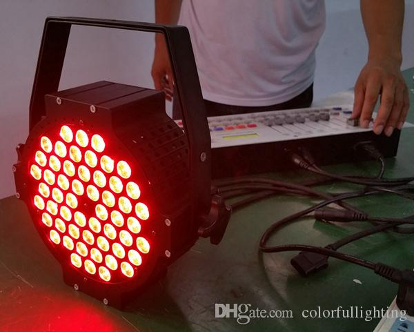 Freies Verschiffen Gussaluminium 54 * 3W Tri Farb-LED-flache Gleichheit beleuchtet Stadiums-Beleuchtung des Aluminium-3in1 DMX LED