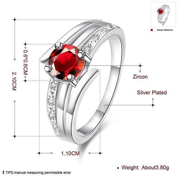 Vente chaude Full Diamond Fashion Driving trois lignes 925 bague en argent STPR055B marque nouvelle pierre rouge argent sterling plaqué bagues