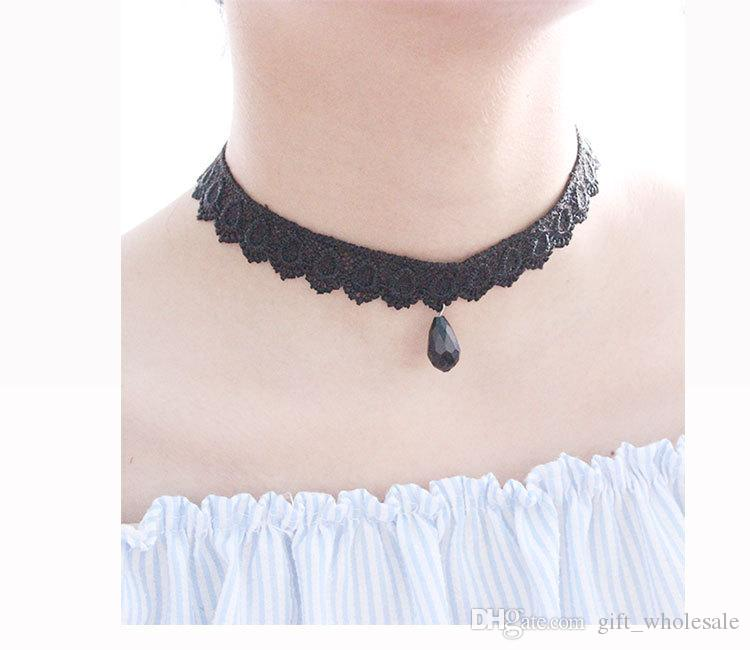 Jewelry wholesale flower lace collar velvet ribbon neckband bell starfish necklace to send his girlfriend crazy shopping