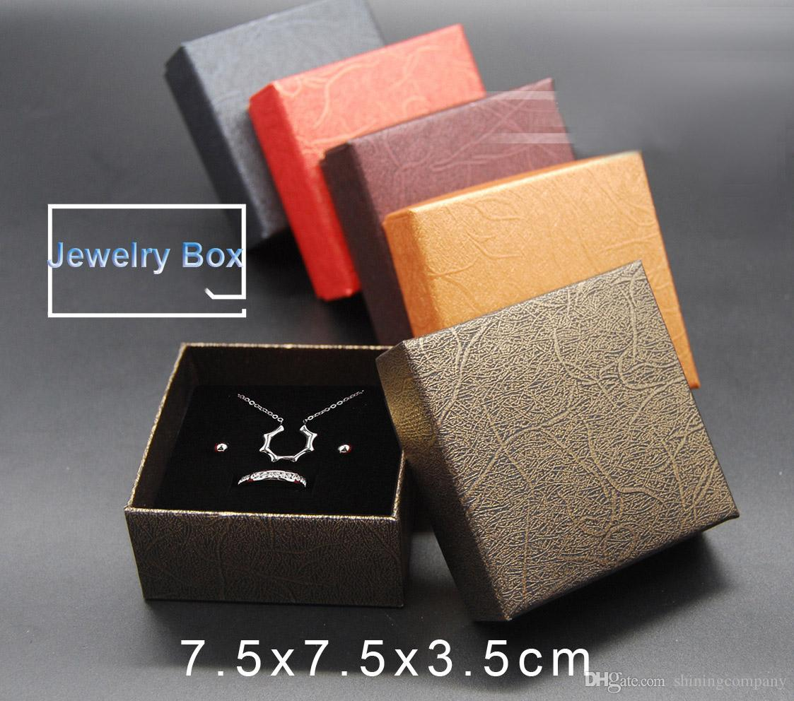 099d74e75754 DHL  FedEx FREE 7.5 7.5 3.5cm Jewelry Boxes Top Quality Gift Boxes ...