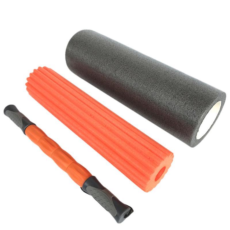 45 * 15 cm 3 1 Yoga Egzersiz Fitness Masaj Spike Yoga Köpük Rulo Yoga Sütun Masaj Tetik Noktası Sopa Ev Gym CrossFit