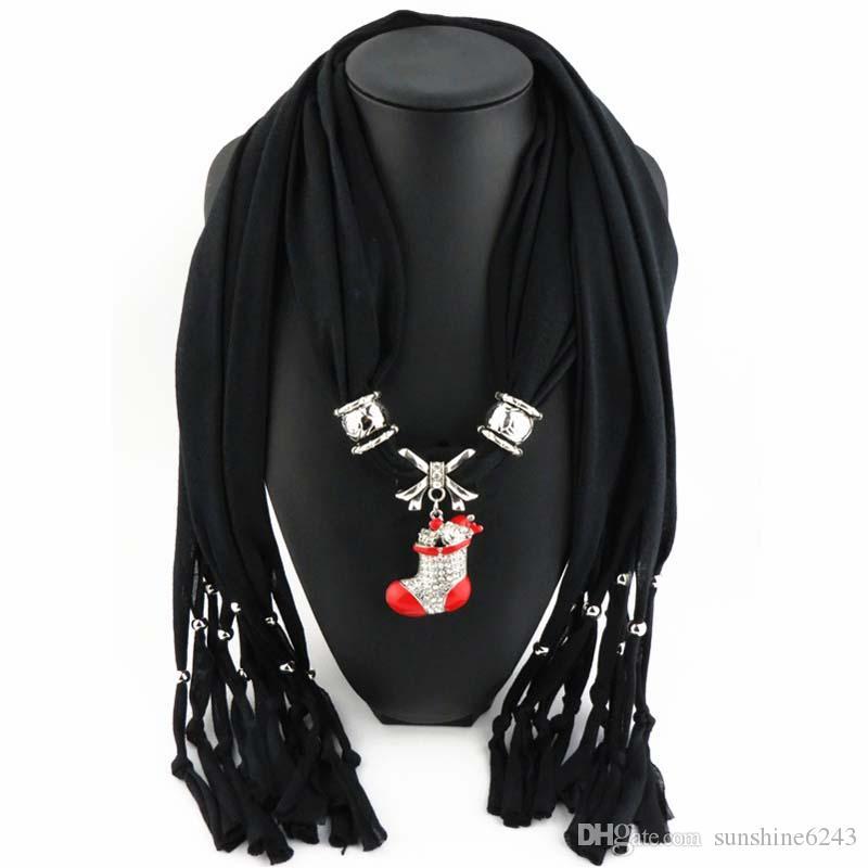 Новые Дешевые Мода Женщины Шарф Прямой Завод Ювелирных Изделий Кистями Шарфы Женщины Стразы Ожерелье Шарфы С Подвеской Большая Звезда