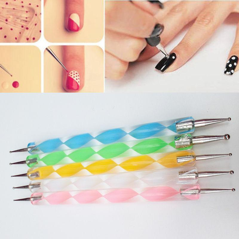 X 2way Dotting Pen Marbleizing Tool Nail Art Tips Dot Diy Paint Pens