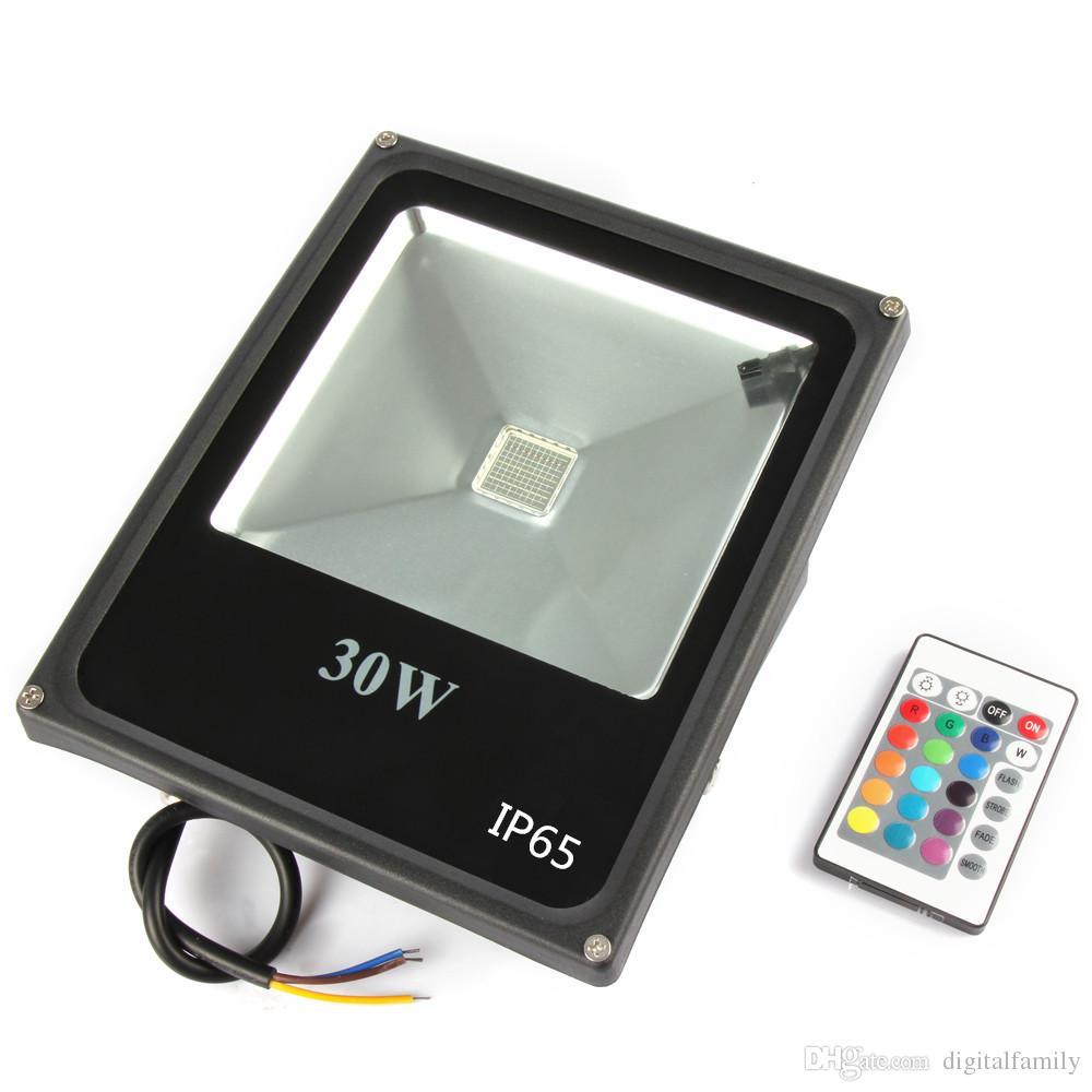 ultra mince! Réflecteur Led 10W 20W 30W 50W RVB Led Projecteur IP65 étanche étanche Projecteur AC85-265V Eclairage extérieur
