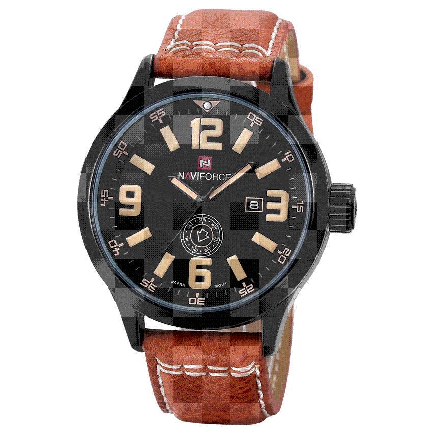 34dd1e0a4a6 Compre Hot Moda Homens Relógios Desportivos Dos Homens De Quartzo Hora Data  Relógio Homem Pulseira De Couro Militar Do Exército Relógio De Pulso À  Prova D   ...