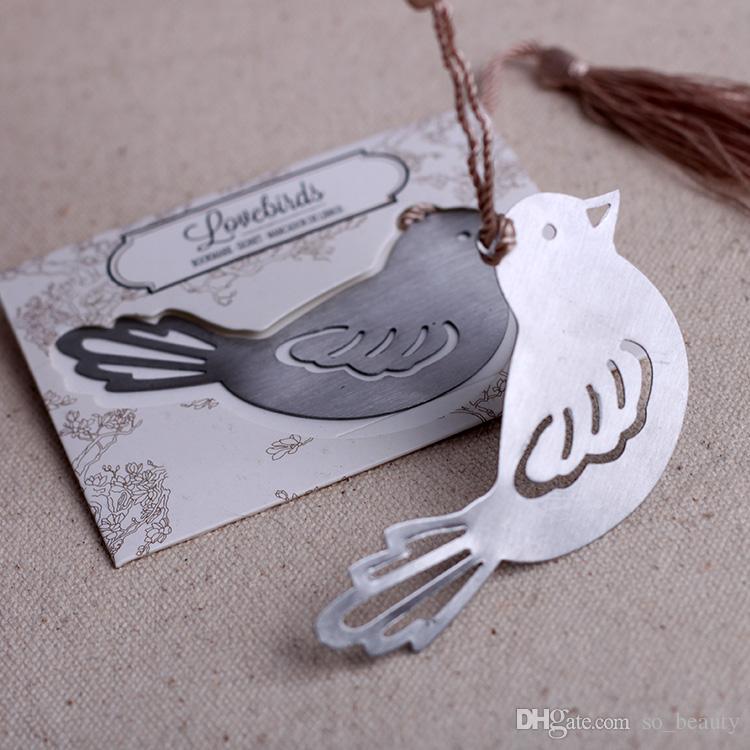 Love Birds Bookmarker avec des glands Bookmark étudiant cadeau Faveurs de mariage Creative Bookmarks Party Christmas New
