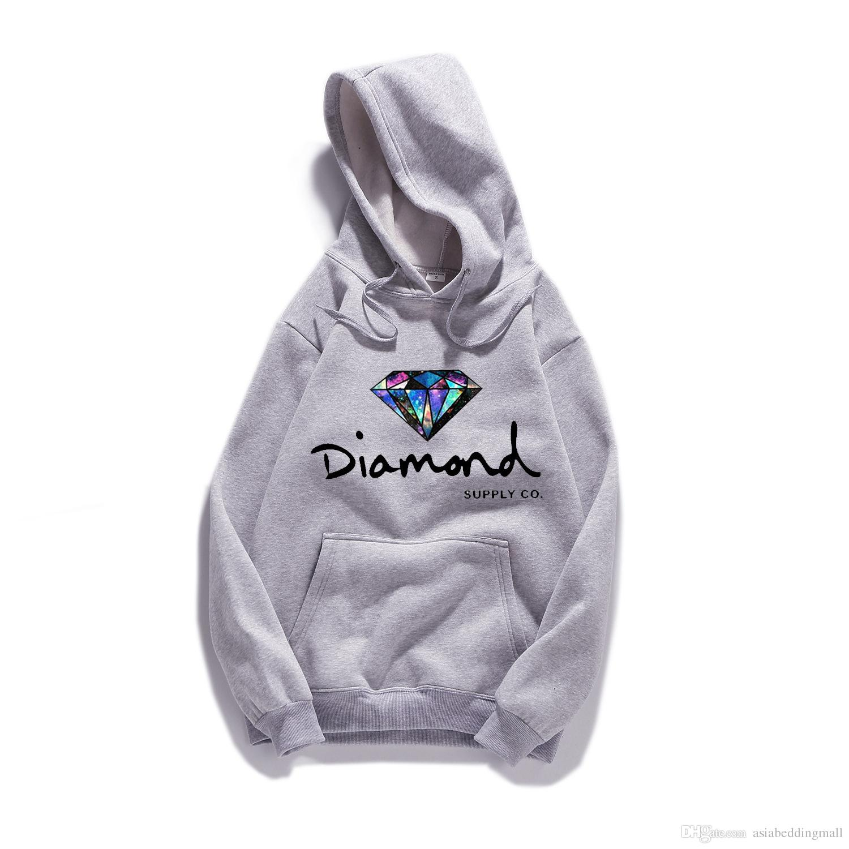 diamond supply co Hot Fashi on Men's spring autumn Hoodie pullover spo WY-8081rtswear hip hop sweatshirt diamond supply co hoodies