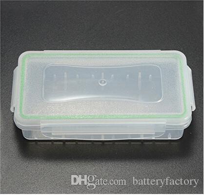 18650の電池箱の防水ケースのプラスチック保護貯蔵庫半透明の電池ホールダー収納ボックス18650と16340のバッテリーDHL無料