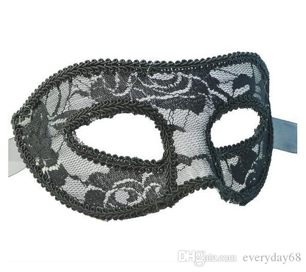 Nova translúcido rendas veneza mulheres máscaras máscaras do dia das bruxas máscaras do partido festivo suprimentos máscaras do partido 7 cor frete grátis
