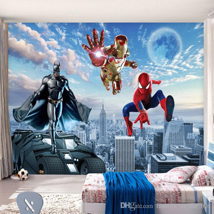 Custom 3d Photo Wallpaper Batman Iron Man Wallpaper Spider Man