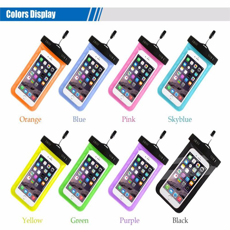 Hot sale outdoor PVC plastic dry case sport cellphone protection universal waterproof bag for smart phone DHL SCA359