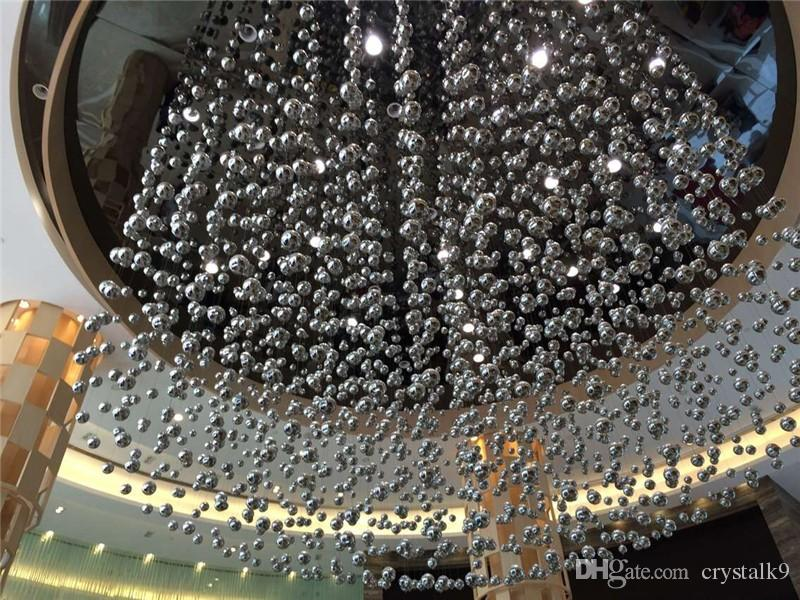 Luces de suspensión de burbujas de cristal de cristal de lujo contemporáneas Burbuja de cristal Leucos Murano Due por Patrick Jouin Proyecto Iluminación LED