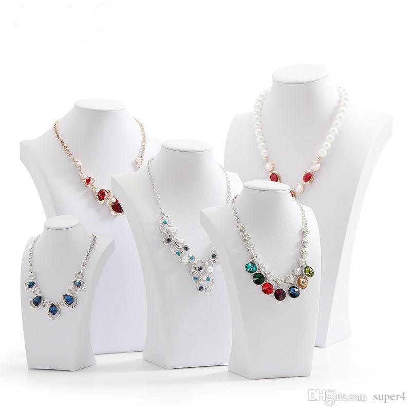 Leather Mannequins Jewelry Display Necklace Display Rack Necklace Organizer Holder PU Big Size Model Shelf