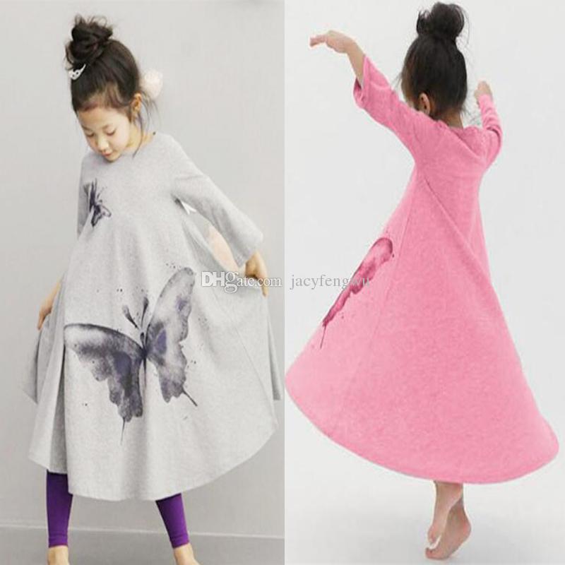 86ec3d5ad1621 Acheter Filles Boutique Tenues Vêtements De Noël Robe Vêtements À La Maison  Filles Papillon Jupes Maison Costumes Enfants Vêtements Bébé Enfants Long T  ...