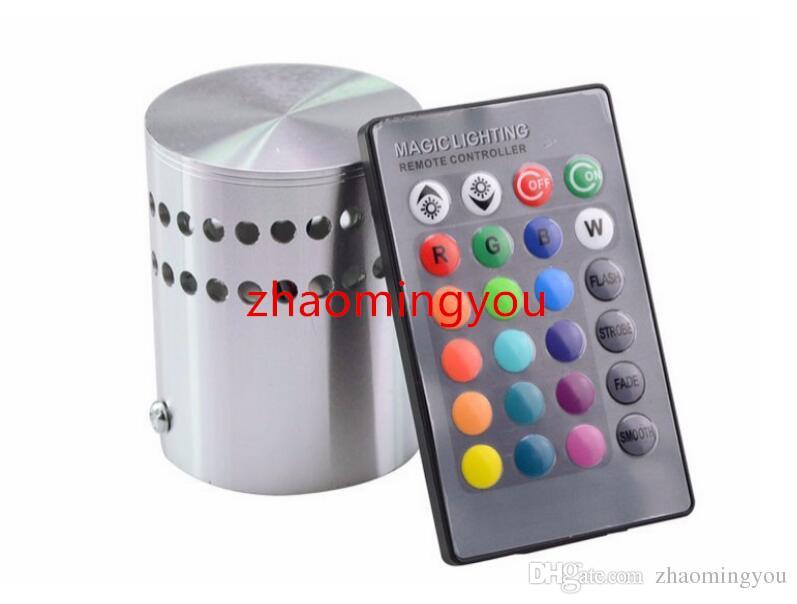 Modern 3 W RGB Led Luz de Parede 85-265 V 110 V / 220 V KTV Karaoke Bar Decoração Lâmpadas LED de Parede Para Sala de estar Restaurante Coffee Shop