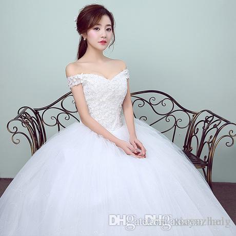 2017, The New Word Shoulder Uniform Wedding Dress, Simple Marriage ...