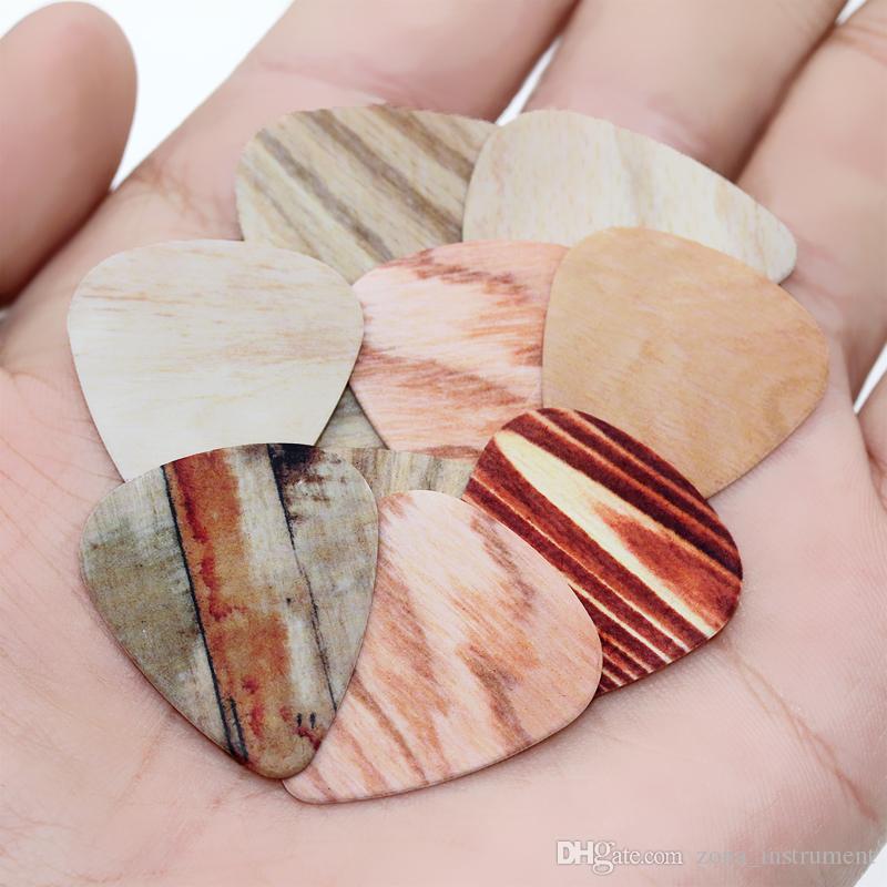 100 قطع أحدث الخشب الحبوب غيتار اللقطات سمك 0.46 ملليمتر حزام حزام سلاسل الغيتار سمك 0.71 ملليمتر سمك 1.00 ملليمتر