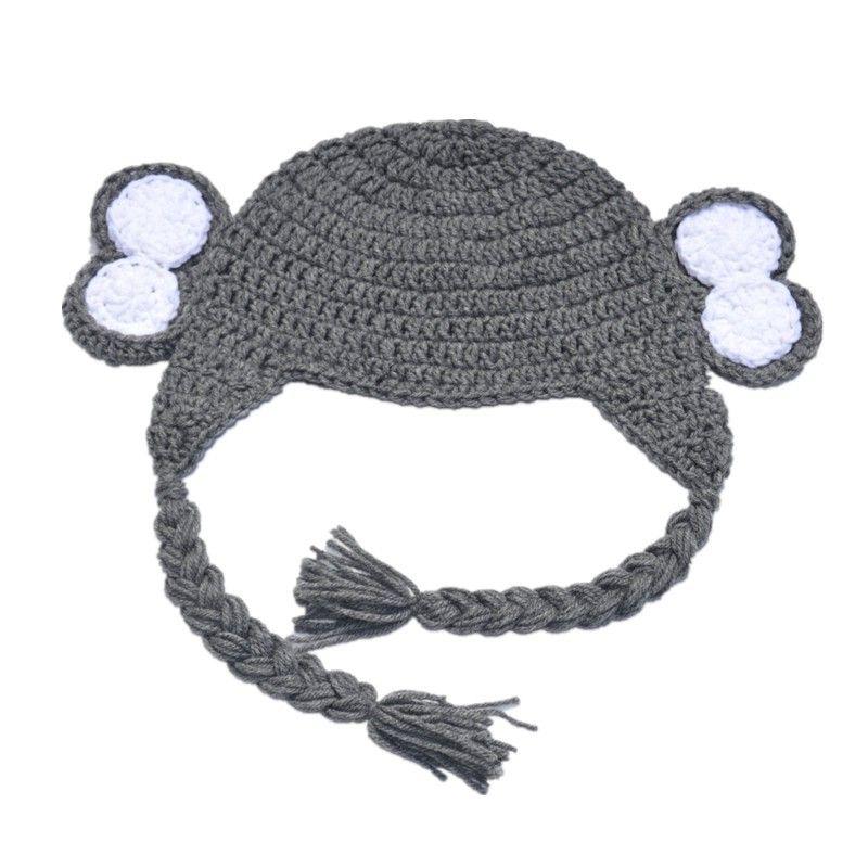 fb62540a8a0 2019 Novelty Adorable Grey Elephant Earflap Hat