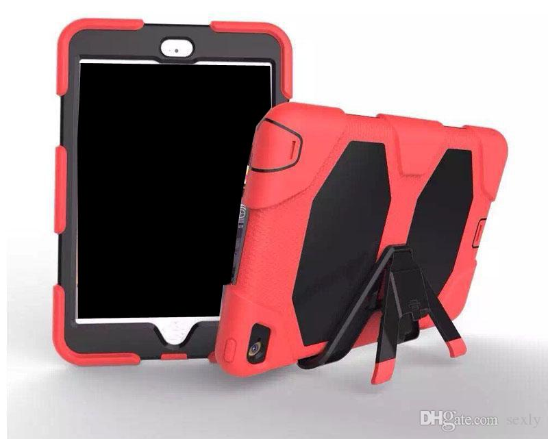 Defender shockproof Robot Case military Heavy Duty silicone cover with stand hoder For ipad air 3 ipad 234 ipad mini mini4 for Galaxy Tab