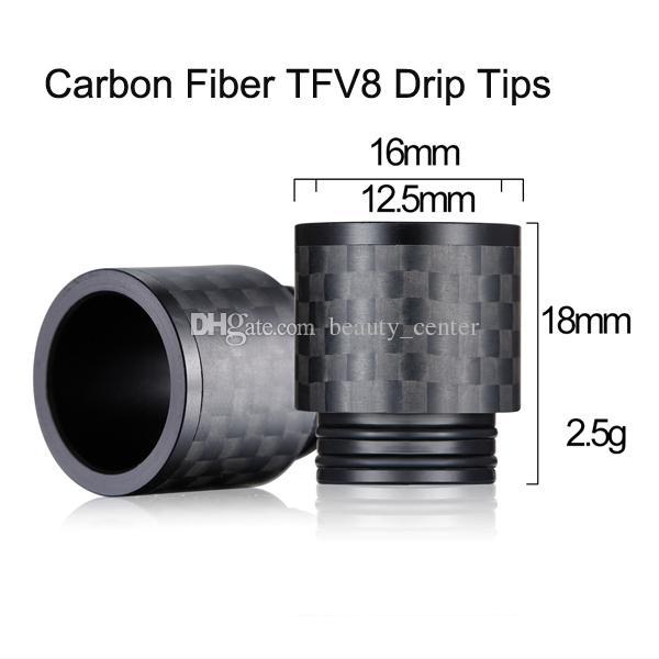Nuovo arrivo in fibra di carbonio TFV8 Drip Tips 810 strisce Camo Mushroom Style Drip Tip TFV8 BIG BABY TFV12 serbatoio sigaretta elettronica