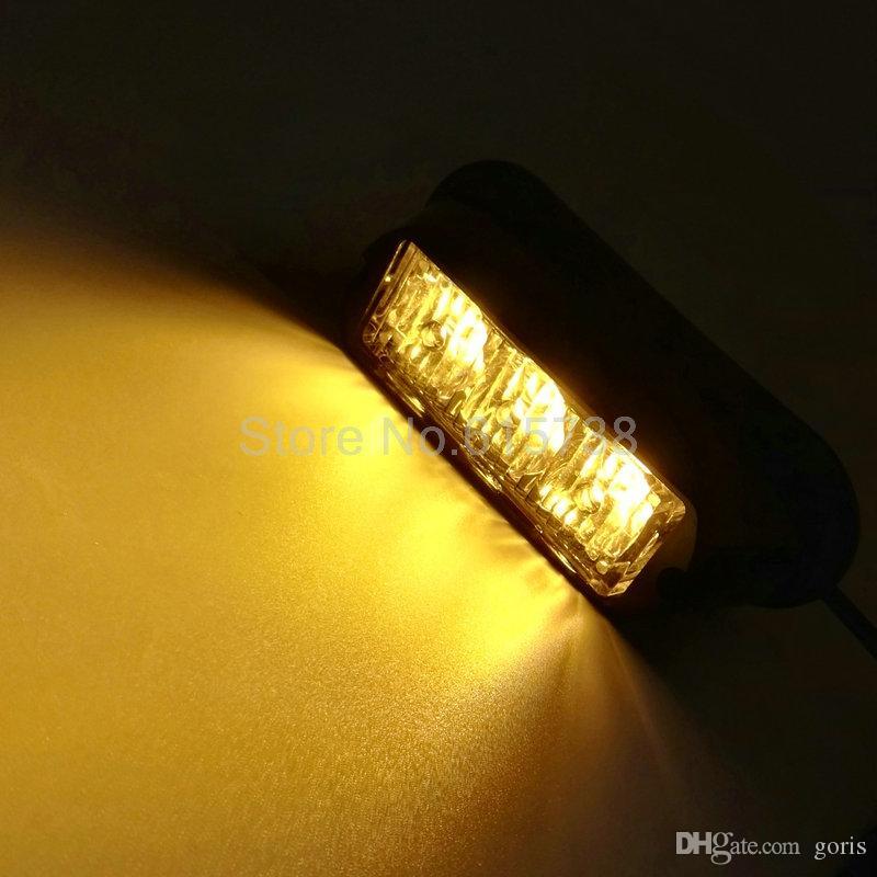 2шт 3 LED водонепроницаемый автомобиль грузовик аварийной лампы Флэш-предупреждающие огни автомобиля авто грузовик lightbar светодиодные стробоскоп