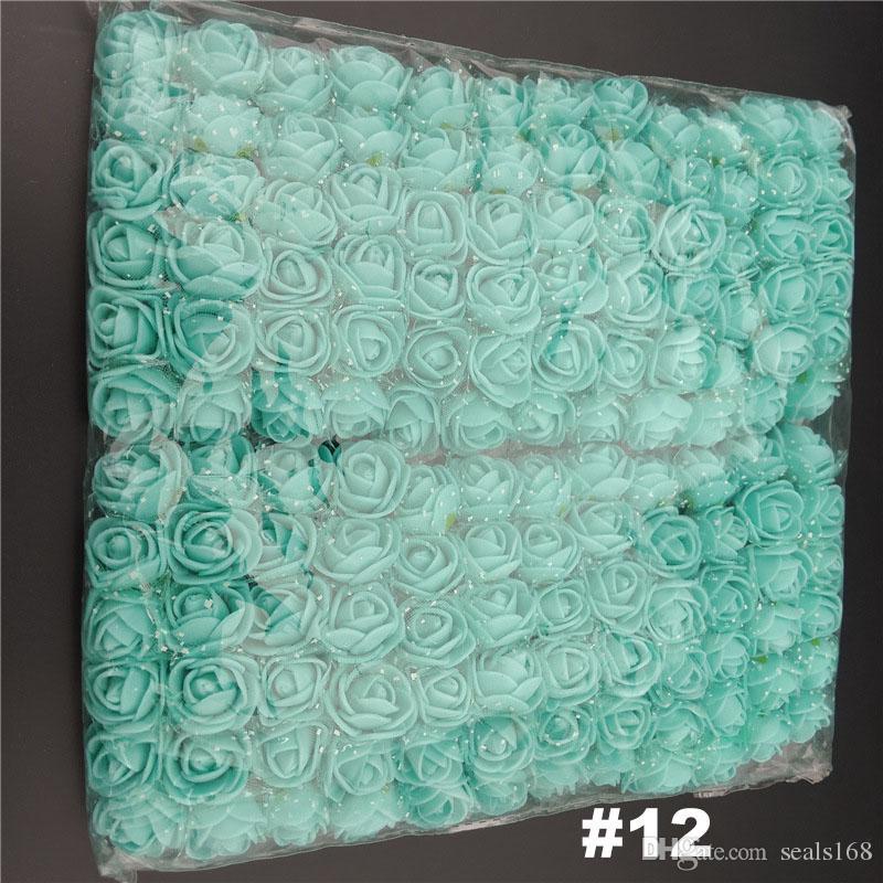 / Los Künstliche Blumen Mini Foam Rose Blumen-Blumenstrauß-Garten Hochzeit Dekoration Simulation Blüte Weihnachtsgeschenk HH7-151