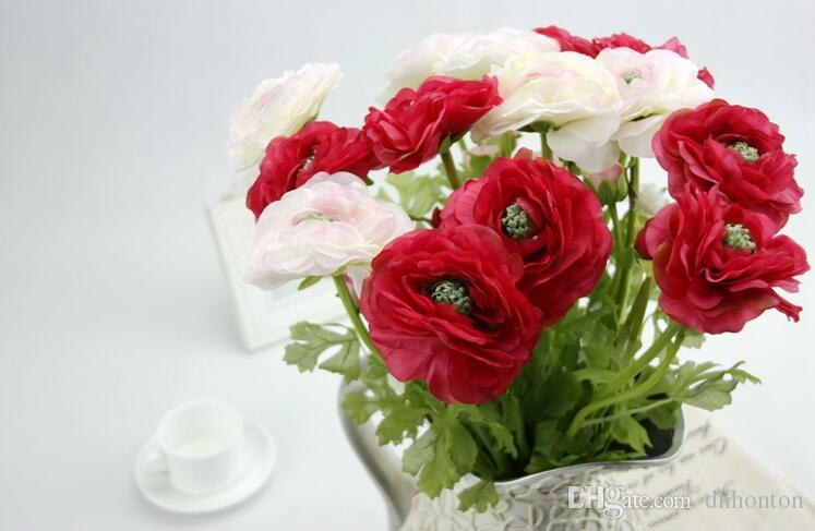Rose Artificial Flowers Silk cloth For wedding Home Design flower Bouquet Decoration Products Supply HR017