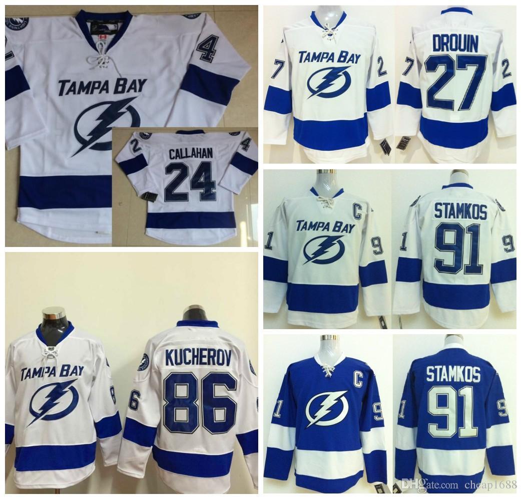Jonathan drouin jersey - 2017 2016 Tampa Bay Lightning Jersey 24 Ryan Callahan Ice Hockey 27 Jonathan Drouin 86 Nikita Kucherov Jerseys 91 Steven Stamkos From Cheap1688