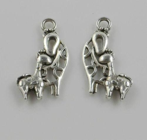 zinc alloy Giraffe Charms Antique Silver Plated Pendant Bracelet for DIY Jewelry Pendant Charms Making Finding 20x14mm