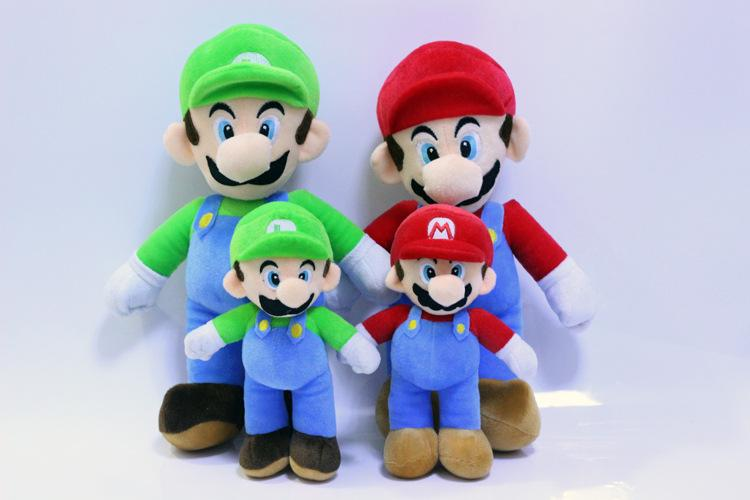 Super Mario Bros Plush Toys High quanitity 25cm Mario Luigi Plush Stuffed Dolls Gift For Children
