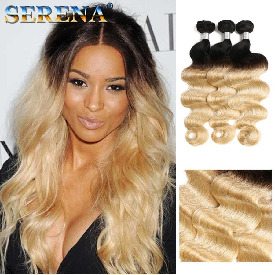 3 Bundles Deals Color T 1b 613 Blonde Virgin Hair Silky Body Wave