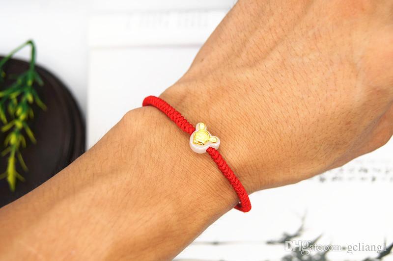 Złota mysz haftowa Ręcznie dzianinowa King Kong Knot