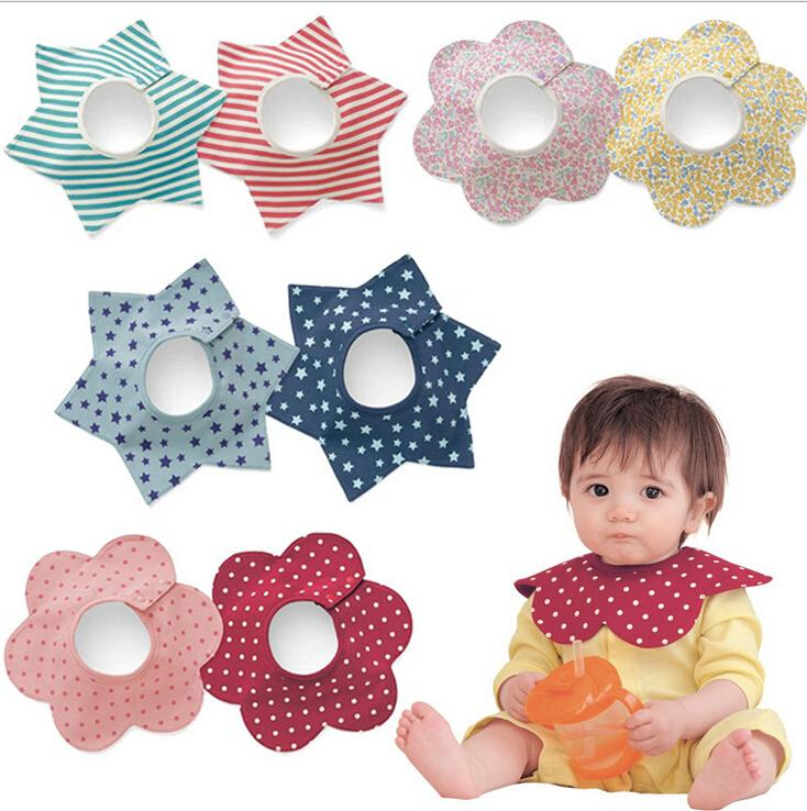 11 Design cartoons Flower Shape Baby Bandana Drool Bibs Thicken JeeMax New Release Saliva Towel Unisex Organic Cotton Gift Set for Baby