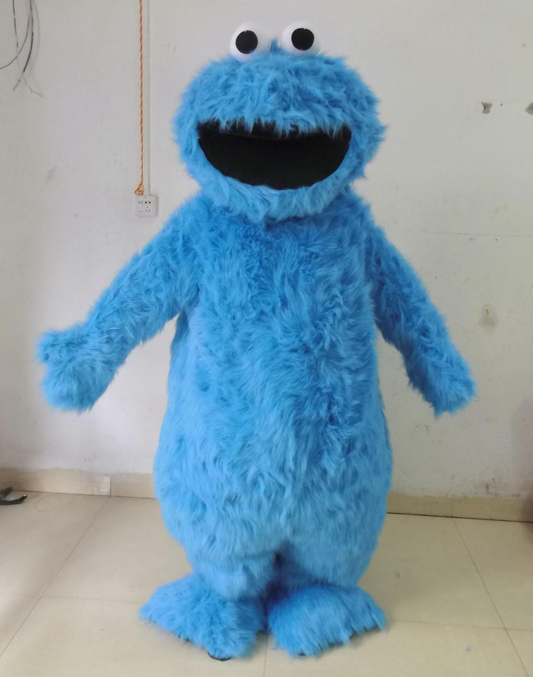 0524 Adult Cookie Monster Mascot Costume With Mini Fan Inside The Head For Sale Discount Halloween Costumes Costumes For Adults From Smartcostumes ... & 0524 Adult Cookie Monster Mascot Costume With Mini Fan Inside The ...