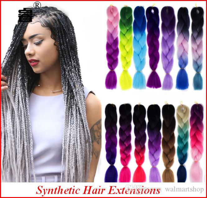 Brand New Hair Extensions For Women 60cm 24inch Synthetic Kanekalon