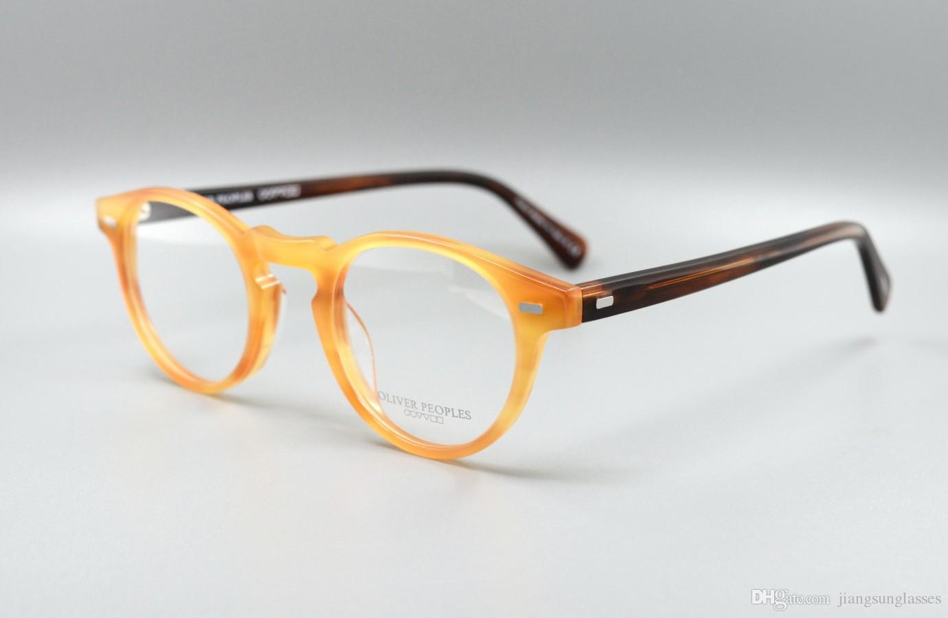 37bf158a3053 2019 New Designer Glasses Frame Clear Lenses Oliver Peoples Ov5186 Men  Brand Eyeglasses Frame For Men Fashion Frames Eyewear Frames With Case From  ...