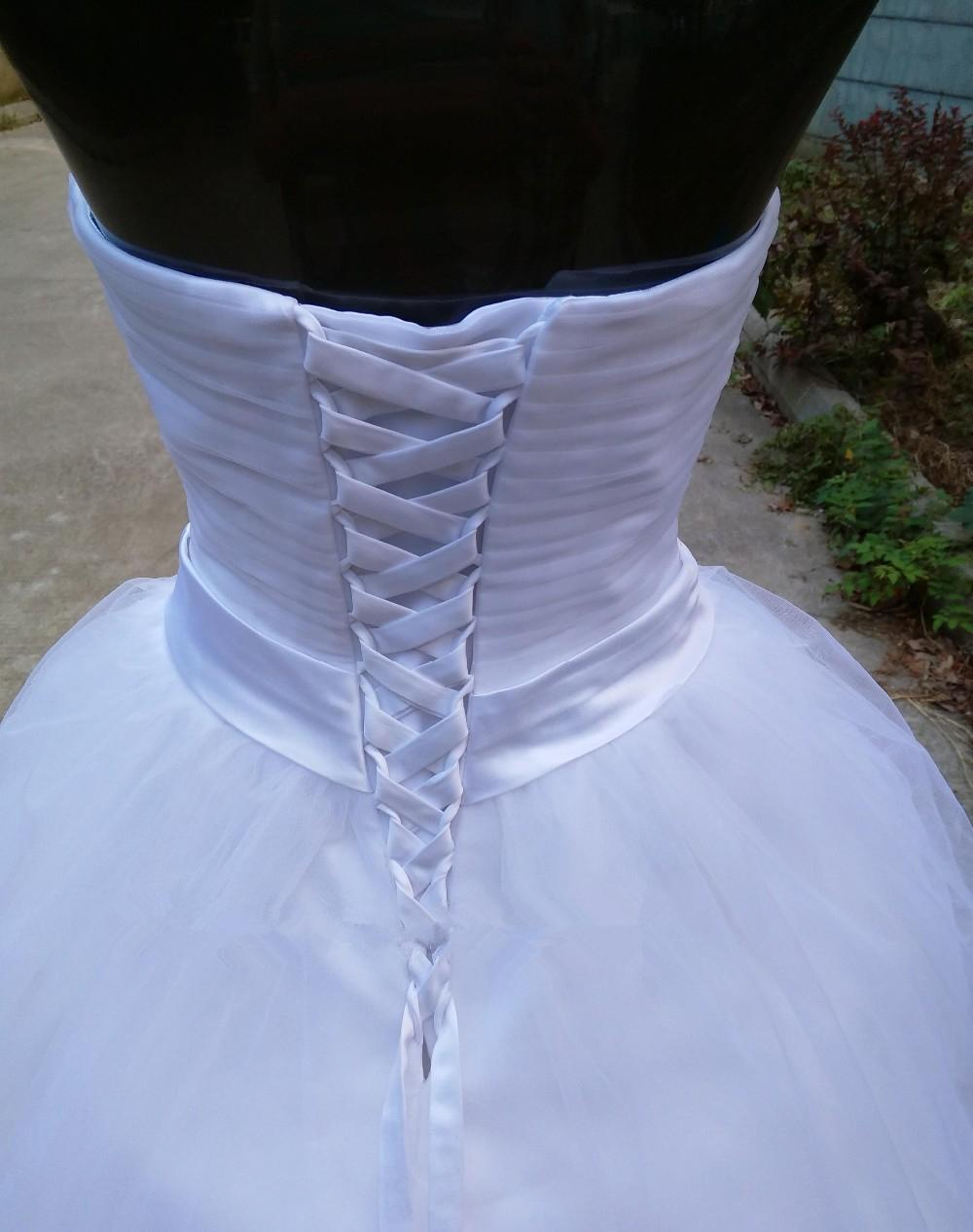 Vestido de novia romántico con forma de bola Vestido de novia con cristal 2019 Nuevos vestidos de novia suaves de tul Longitud del piso