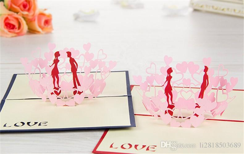ValentineS Day 3d Stereoscopic Courtship Cards Wedding – Married Invitation Card
