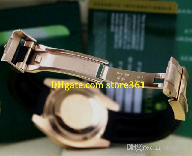 5 estilo estilo de esporte de luxo gmt ii 116710 mens relógios mecânico automático cinto de borracha preto mostrador preto / vermelho cerâmica moldura 40mm natal