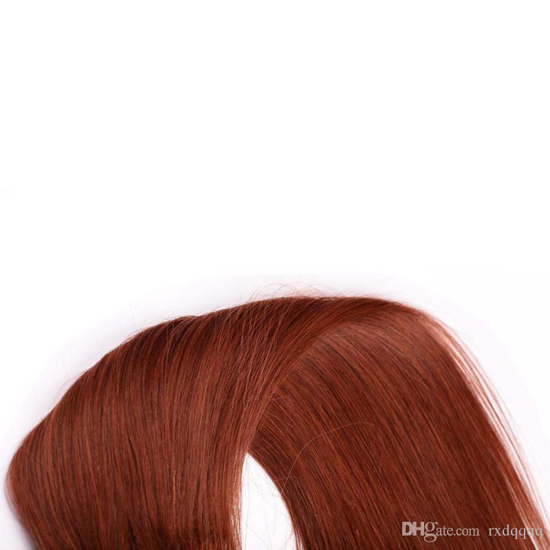 # 33 Dark Auburn Brown Menschliches Haar Clip In Extensions 100g 7 stücke Gerade Brasilianische Nicht-remy Haar 4B 4C