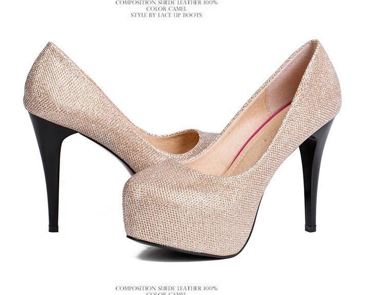 2012-4 Evening Party Glittering High Platfrom Stiletto Heels Women Fahsion Sexy Pumps