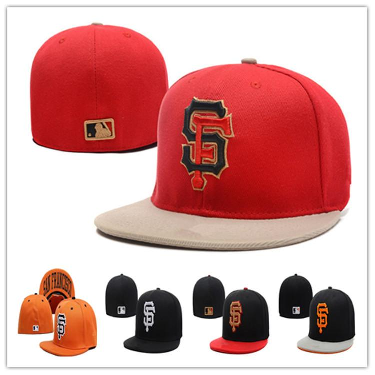 Cheap Giants Fitted Hats Baseball Cap Flat-brim Hat Team Size Baseball Cap  Giants Classic Retro Fashion 254ed465beb