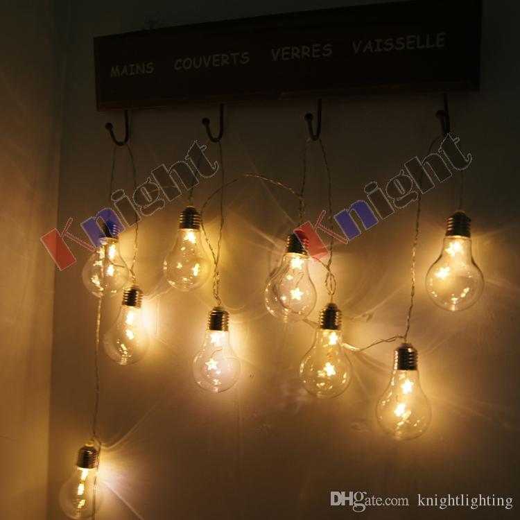 edison bulb string light,10m 30bulbs acrylic tungsten LED string lamp transparent shell star light waterproof,wedding party lighting lights