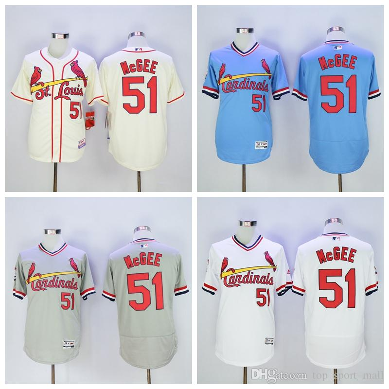 new concept 5cba2 ca721 st. louis cardinals 51 willie mcgee light blue throwback jersey
