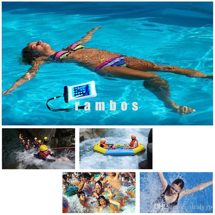 2016 Underwater Waterproof Phones Bag Case Cover Pouch with Floating Wrist Strap for Samsung Galaxy s6 edge plus /s7 for lenovo k4 note