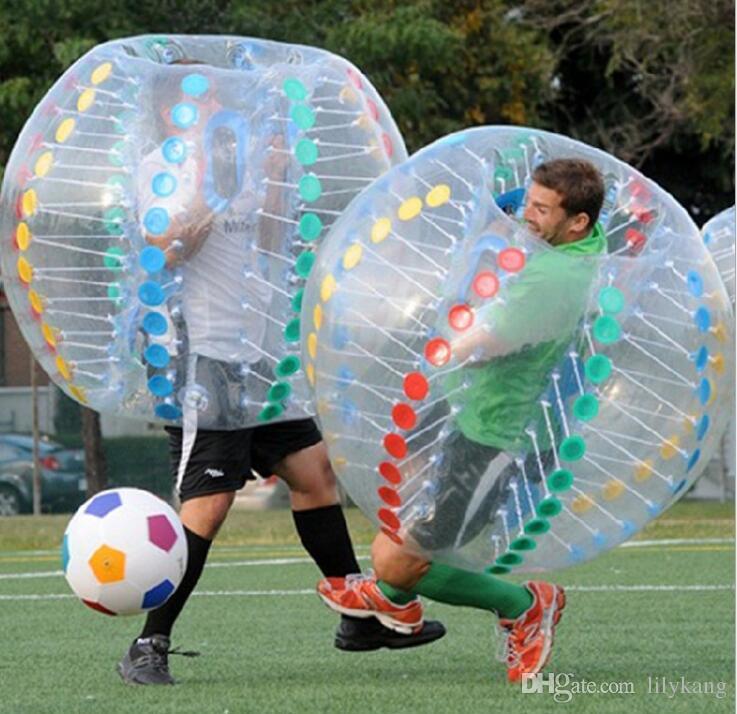 어린이위한 Loop Zorb 공 인간 햄스터 공 범퍼 축구 어린이위한 1.2m 풍선 거품 축구 공
