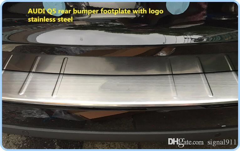 ! High quality stainless steel rear bumper scuff footplate,guard plate,protection plate with logo for AUDI Q5 2009-2015