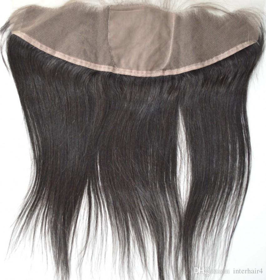 Brazilian Straight Virgin Human Hair With Silk Base Frontal Ear To Ear full Lace Frontal Free Part with bundles