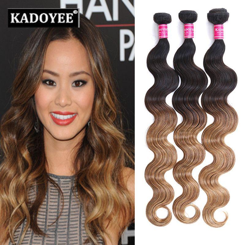 Brazilian virgin hair body wave Unprocessed Virgin hair black omber 1b 27 peruvian Human Hair Bundles wholesale price best quality