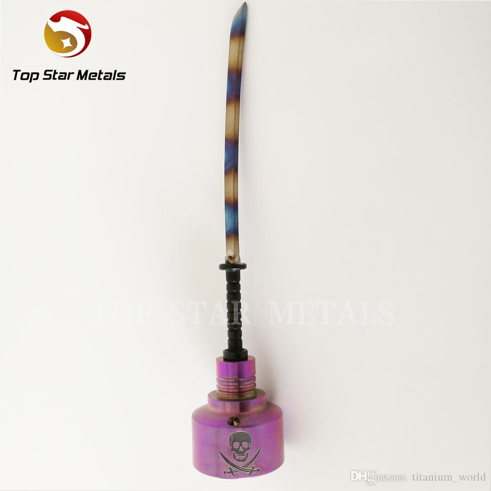 titane coloré d'ongle titanique d'aile titanique de quartz de GR2 pour le cadeau de Helloween